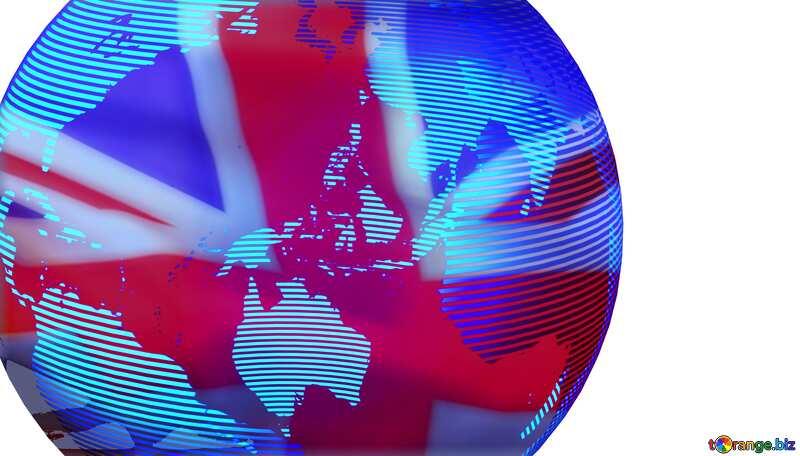 Modern global world earth concept planet symbol United Kingdom flag №54514