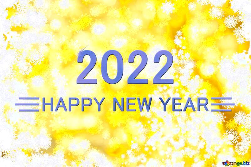 Tree yellow background Christmas and new year Happy New Year 2021 Blue №40703