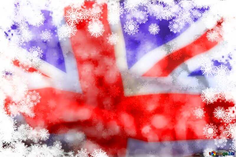 New year background United Kingdom flag №40719