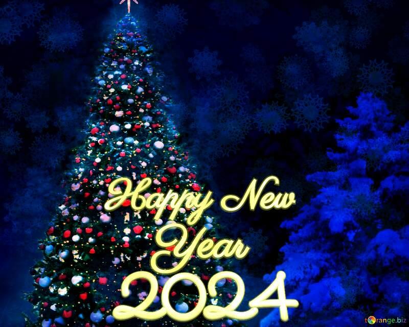 Christmas tree happy new year 2022 background №40739