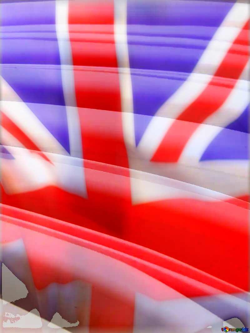 Paper Technology Futuristic background United Kingdom flag №27385