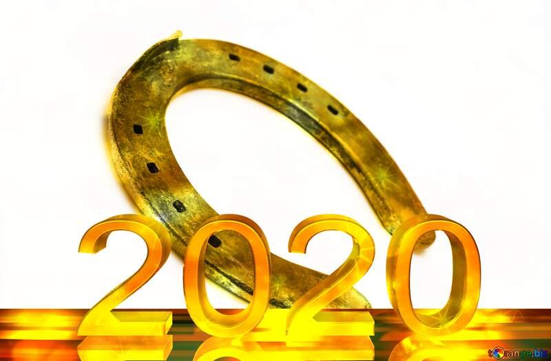 Horseshoe symbol of good luck 2020 Happy New Year №16783