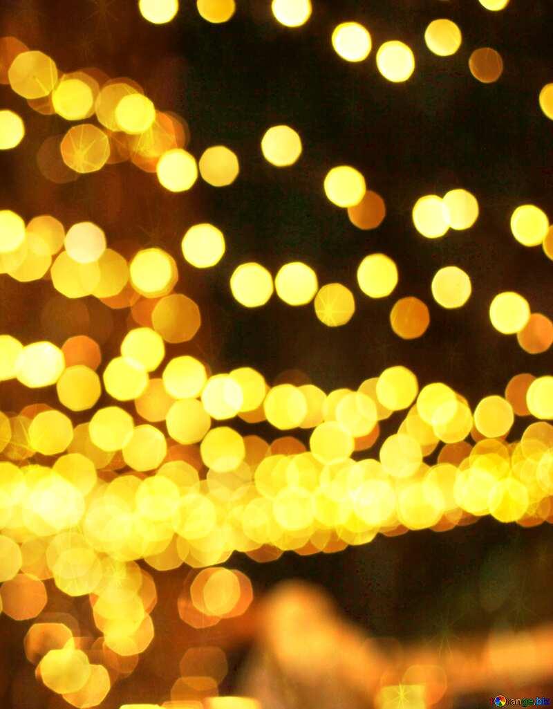Christmas city street  bokeh lights twinkling stars №53517