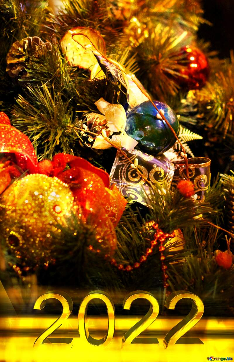 Christmas tree decors 2021  twinkling stars background №53541