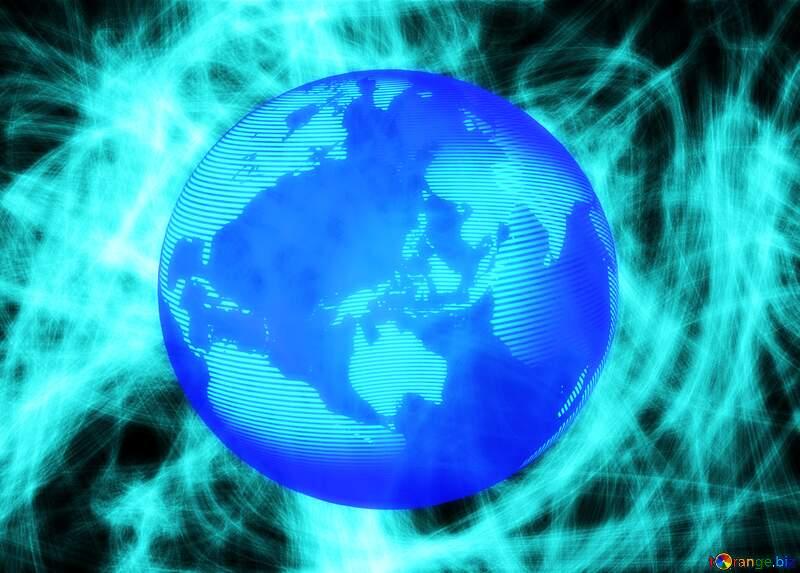Background chaos stars Modern global world earth concept planet symbol dark blue №40643