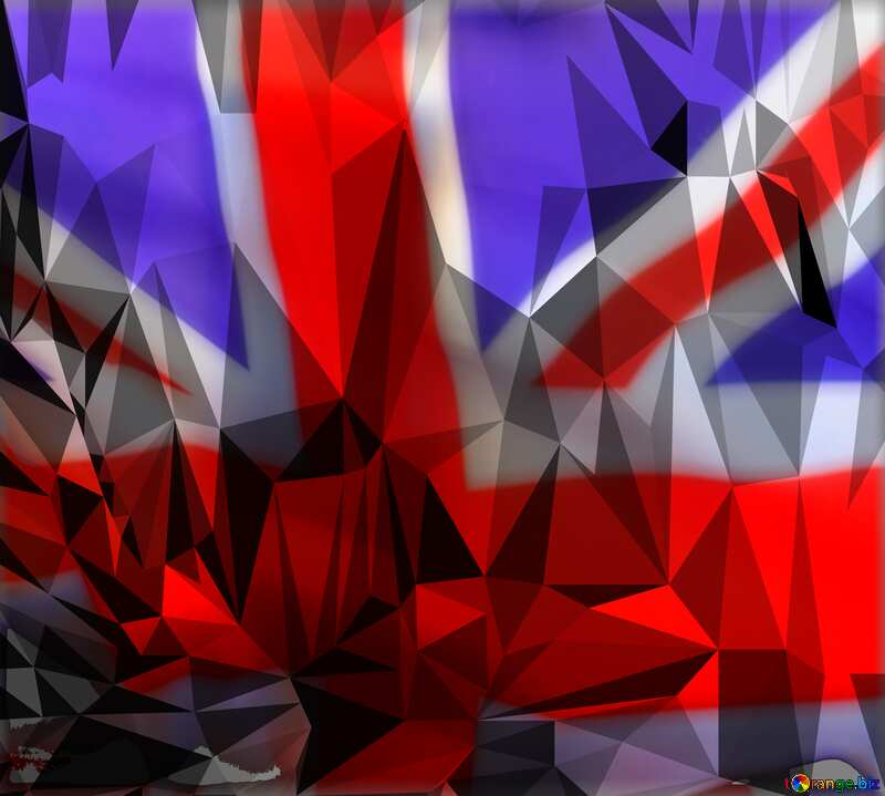 Polygon background with triangles England flag №51583