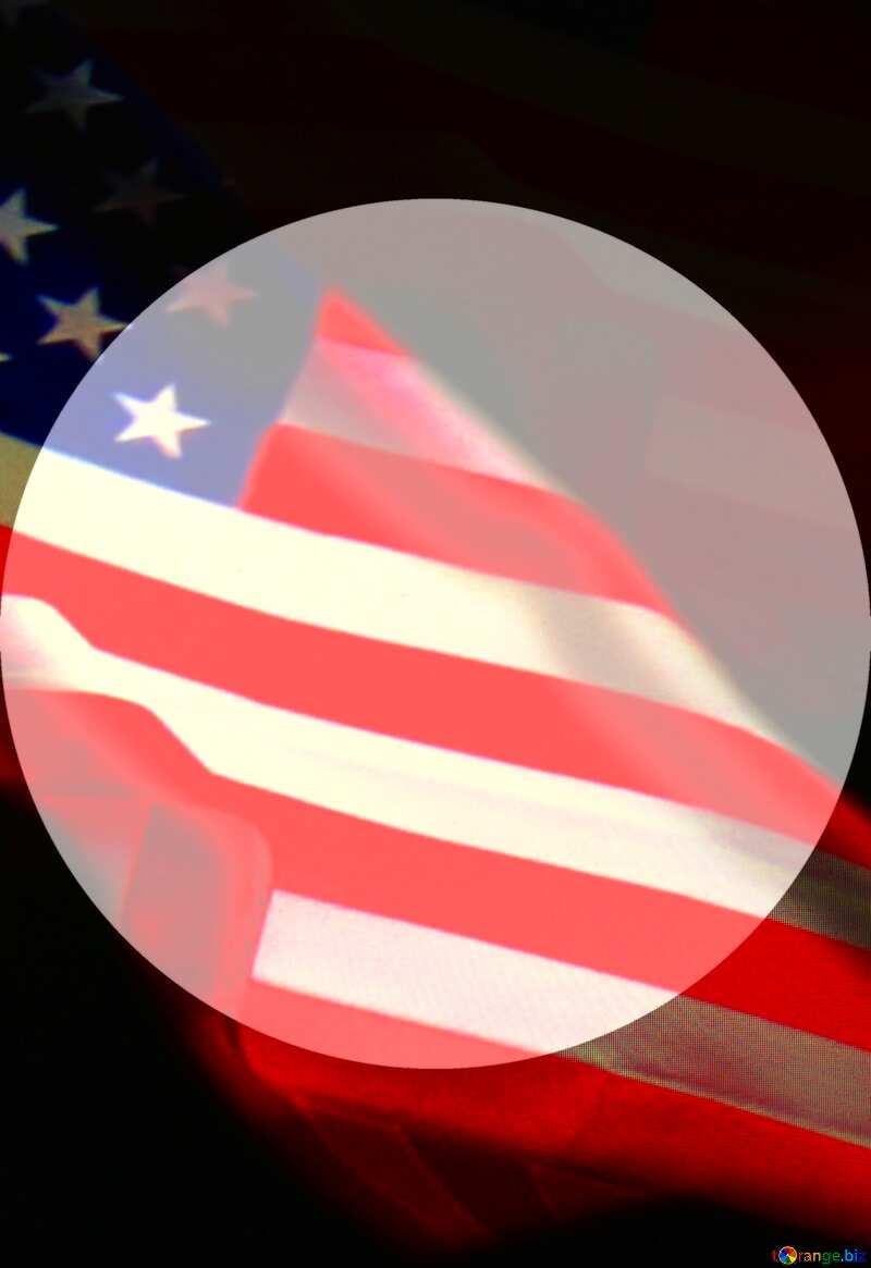 American Flag dark background USA Presentation Template №52480