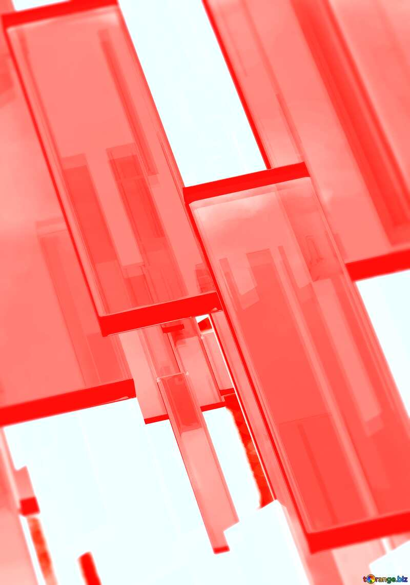 Creative 3d abstract squares lines modern red background Blur Banner №54512