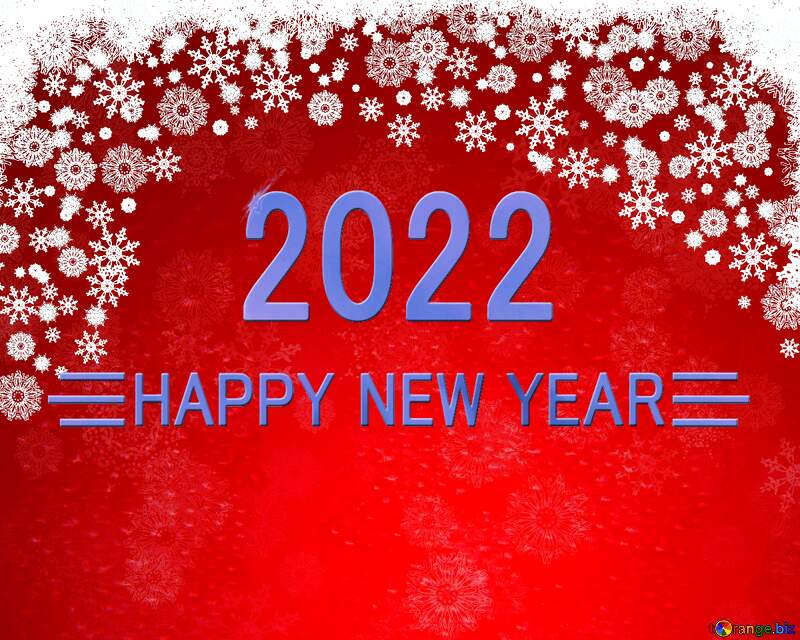 Red Christmas background Shiny happy new year 2022 background blue №40659