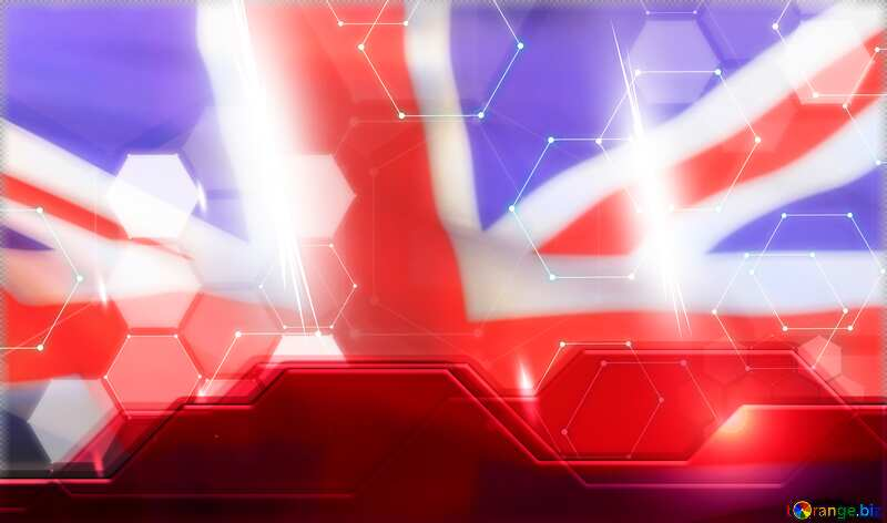 Red Information Technology business concept Hi-tech Elements United Kingdom flag №54484