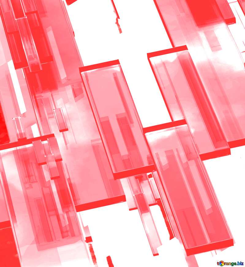 Creative 3d abstract squares lines modern red white background №54512