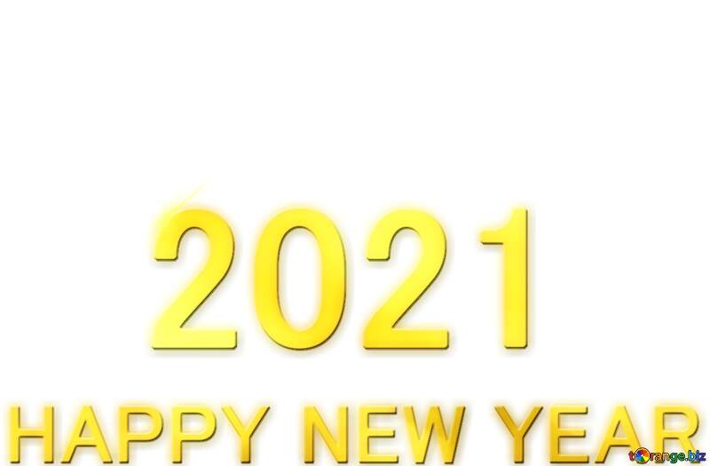 Shiny happy new year 2021 lettering with gold №54488