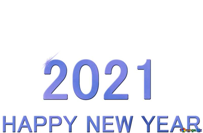 Shiny happy new year 2021 background blue bottom №54488