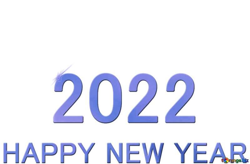 Shiny happy new year 2022 background blue bottom №54487