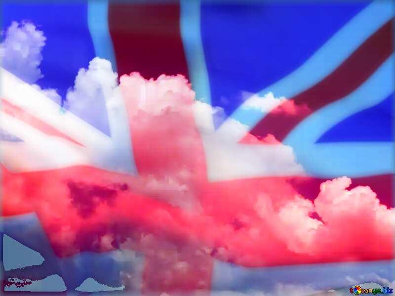 Sky with clouds United Kingdom flag №31575