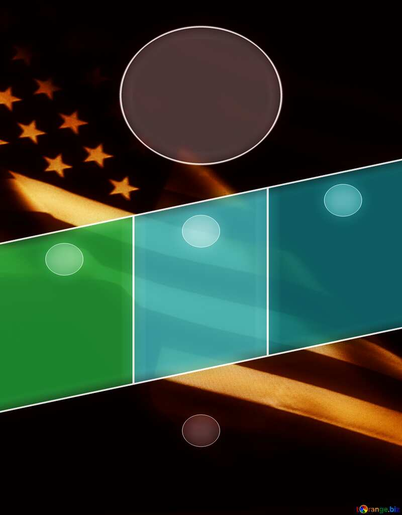 American Flag dark background template №52480