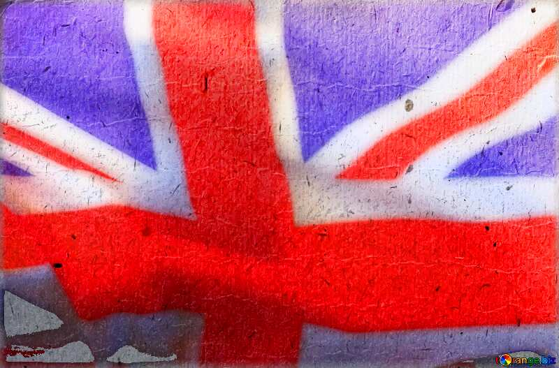 The texture of the cheap paper United Kingdom flag №33524