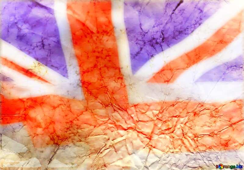 Texture of crumpled paper United Kingdom flag №16030