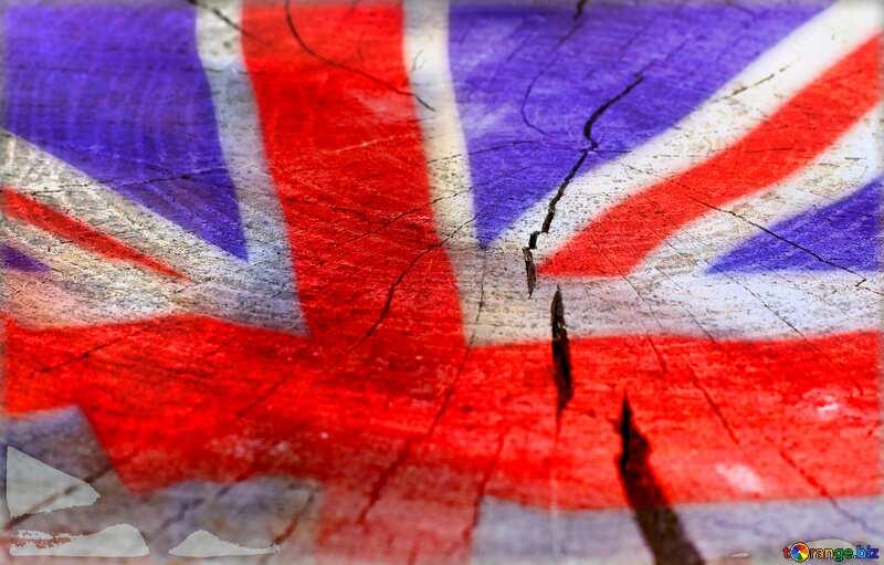 The texture of the cut wood dark United Kingdom flag №33208