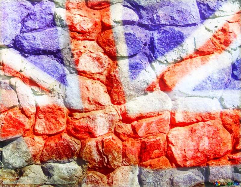 Texture.Stone wall. United Kingdom flag №12748