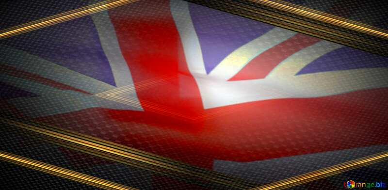 United Kingdom flag techno background №51879