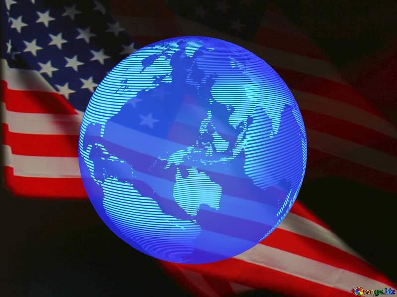 USA American Flag dark background World global №52480