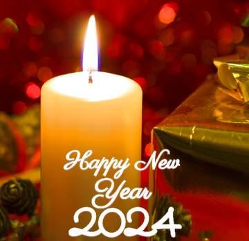 El efecto de la luz. Colores muy vivos. Fragmento. Happy New Year 2020.