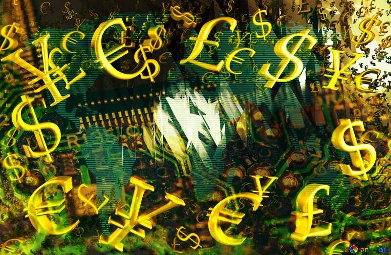 Computer futuristic money business concept №51524