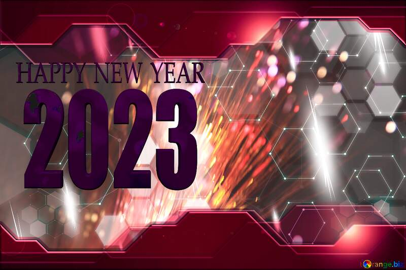 Red Technology hi tech Hi-tech business concept happy new year 2021 №505