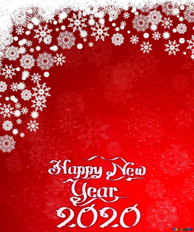 Red Christmas background happy new year 2020 №40659