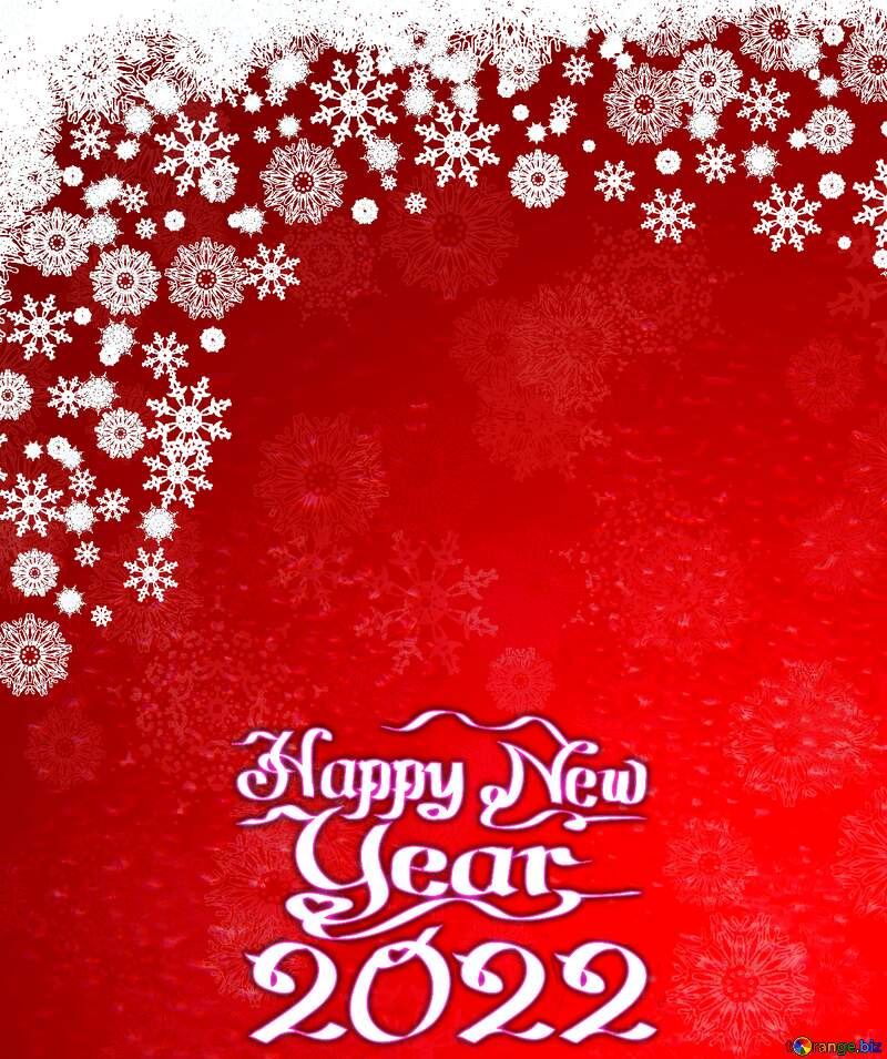 Red Christmas background happy new year 2021 №40659