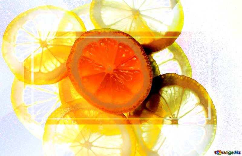 Sliced lemon powerpoint website infographic template №18326