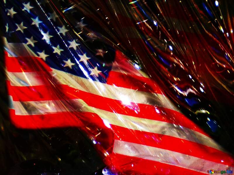 Glass USA American flag background №18044