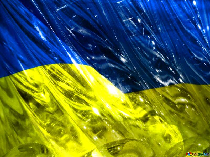 Glass Ukraine background №18044