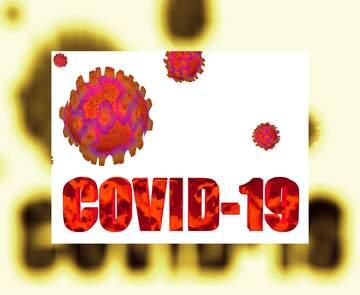 Covid-19 Corona virus frame background
