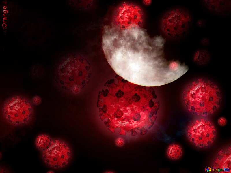 Moon Technology Futuristic background virus background №31497