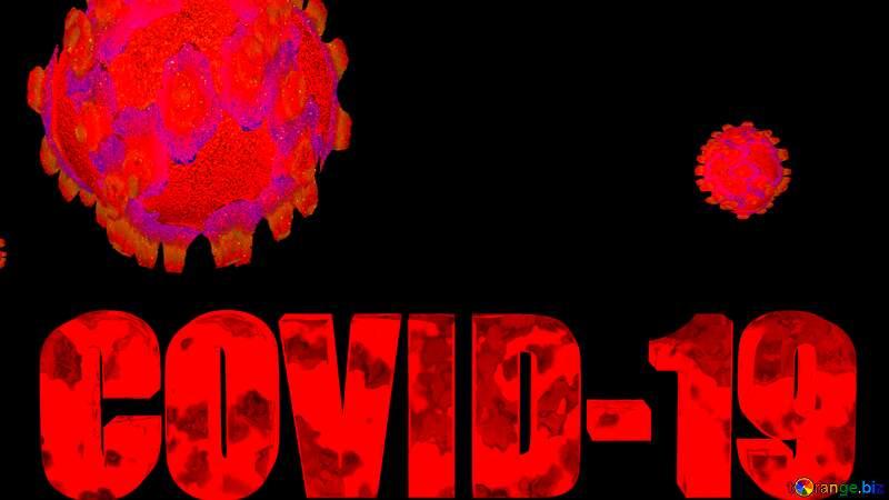 Big Covid-19 Coronavirus dark background №54733