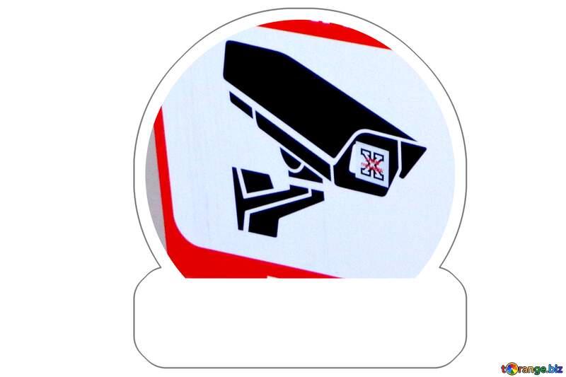 Blank  Sticker surveillance №48501