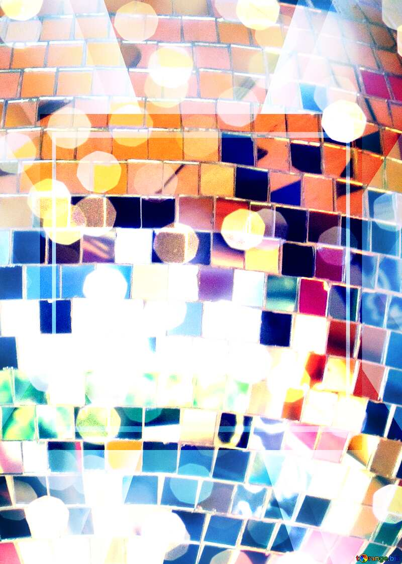 Disco ball business design background infographic powerpoint picture №53395
