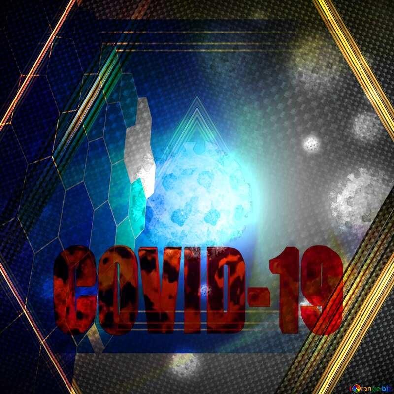 Carbon tech Corona virus Coronavirus dark background №54739