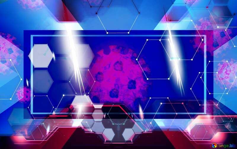 Corona virus Coronavirus art tech background №54739
