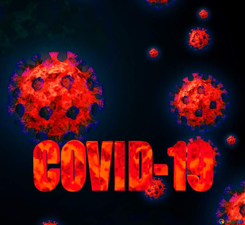 Corona virus Coronavirus dark blue red background №54739