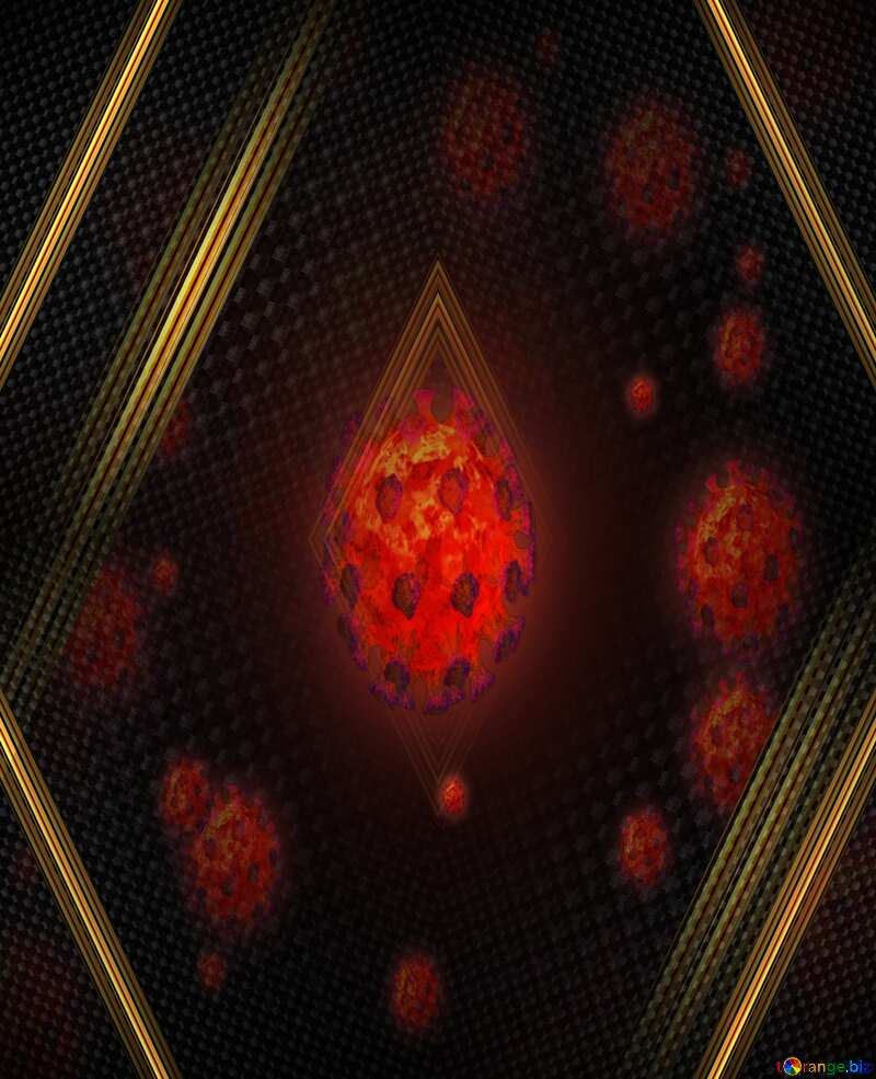 Corona virus Coronavirus dark carbon background №54739