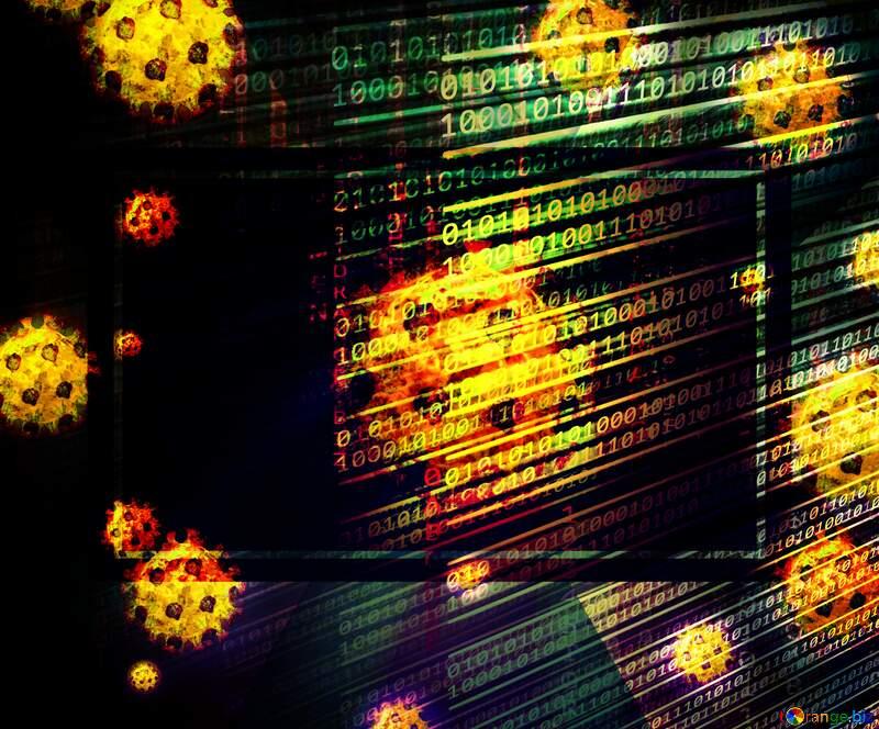 Corona virus Coronavirus dark digital background №54739