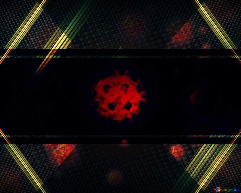 Corona virus Coronavirus dark futuristic background №54739