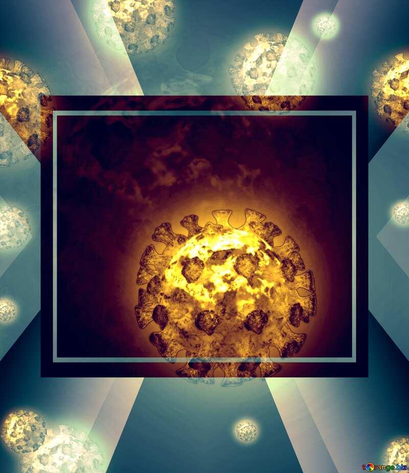 Corona virus Coronavirus technology template №54739