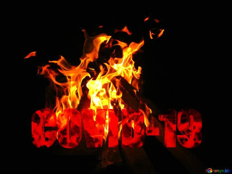 Fire Corona virus Covid-19 Coronavirus disease 2019 2020 №54732