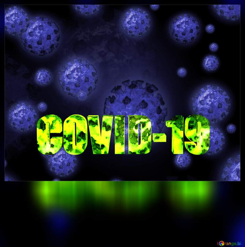 Blank white card Corona virus Covid-19 Coronavirus disease 2019 2020 №54732