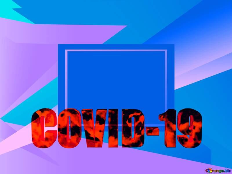 Corona virus Covid-19 Coronavirus disease 2019 2020 blue background №54732