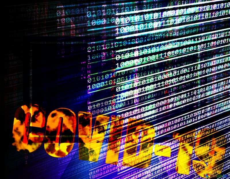 Corona virus Covid-19 digital background №54732